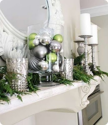 Simple and chic mantle decor