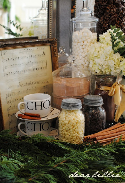 Hot Chocolate Bar Via www.dearlillieblog.blogspot.com